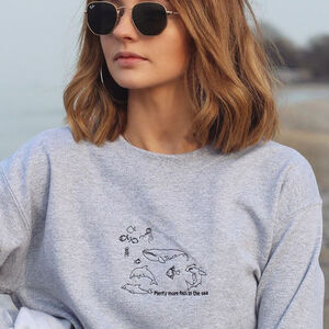 'Plenty Of Fish' Embroidered Unisex Sweater