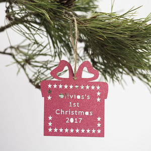 Personalised Baby's First Christmas Decoration - personalised