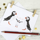 Puffin Family New Baby Card