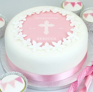 Christening Cake Or Baptism Cake Decorating Kit - decoration
