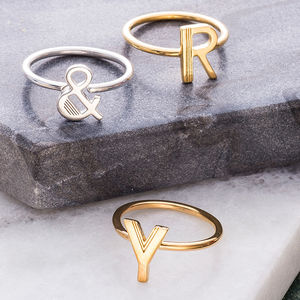 Stacking Initial Rings - stylist live collection