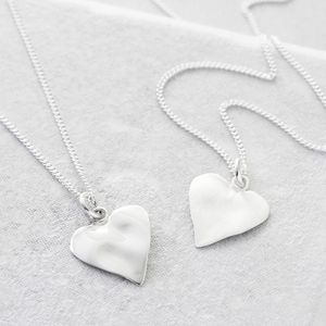 Girls Sterling Silver Heart Pendant - new in baby & child