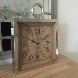 Raw Nickel And Mango Wood Wall Clock - clocks