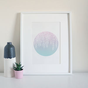 Pastel Foliage Botanical Art Print - modern & abstract