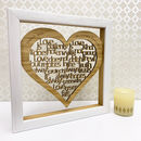 Personalised 5th Wood Anniversary 'Love Is…' Artwork