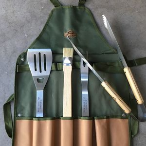 Personalised Bbq Apron And Tool Set
