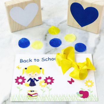 School Back To School Card And Small Bow Set