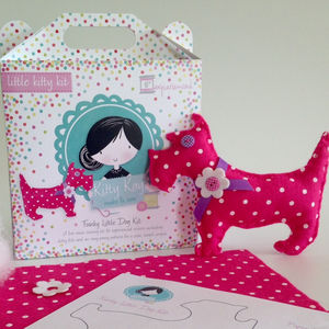 Mini Spotty Dog Sewing Craft Kit Birthday Gift - sewing & knitting