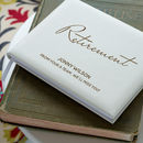 Personalised Retirement Leather Guest Book