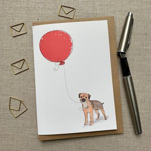 Personalised Border Terrier Birthday Card
