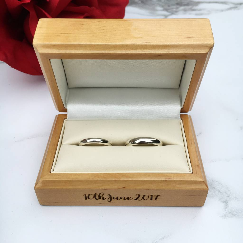 personalised wedding ring box by laser made designs