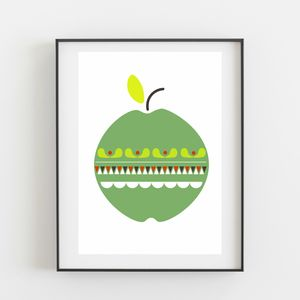 Apple Print - pictures & prints for children