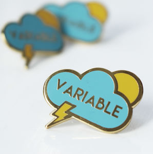 'Variable' Enamel Pin Badge