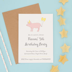 Children's Animal Party Invitations