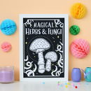 Magical Herbs And Fungi Print