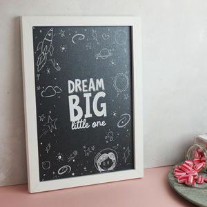'Dream Big Little One' Space Themed Children's Print - baby & child sale