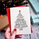Pack Of Ten Traditional Typographic Christmas Cards