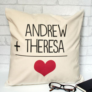 Personalised Love Sum Cushion