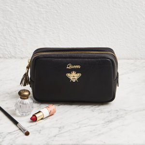 Leather Cosmetic Bag Queen Bee - accessories