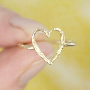 Solid 18ct Gold Happily Ever After Open Heart Ring