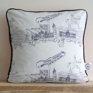 Hand Drawn Glasgow Cushion