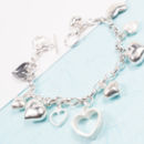Silver All Of My Heart Charm Bracelet