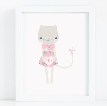 Cat Love A4 Nursery Print