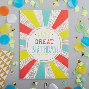 Contemporary Happy Birthday Greetings Card - whatsnew