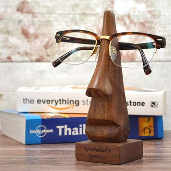 Personalised Wooden Eye Glass Holder