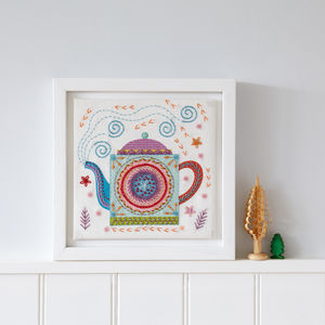 Teapot Embroidery Kit - interests & hobbies