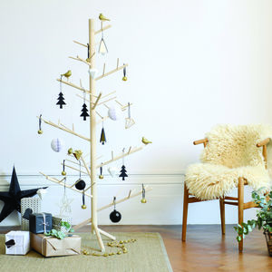 Contemporary Wooden Alternative Branch Christmas Tree - christmas trees