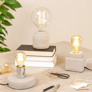 Modern Home Cement Table Lamp Collection