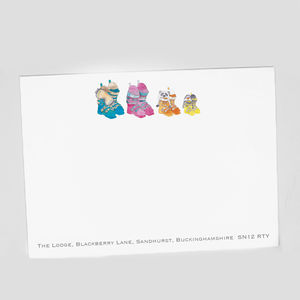 Personalised Ski Boot Correspondence Cards - view all new