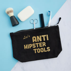 Anti Hipster Tools Personalised Pouch