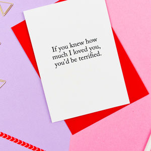 Terrified Valentines Card