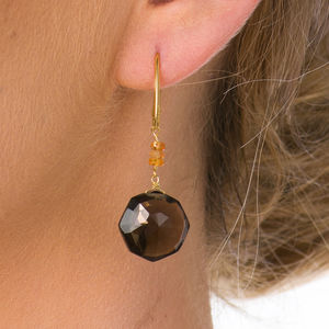 'Solo' Smoky Quartz Earrings - earrings