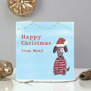Personalised Dog Christmas Card