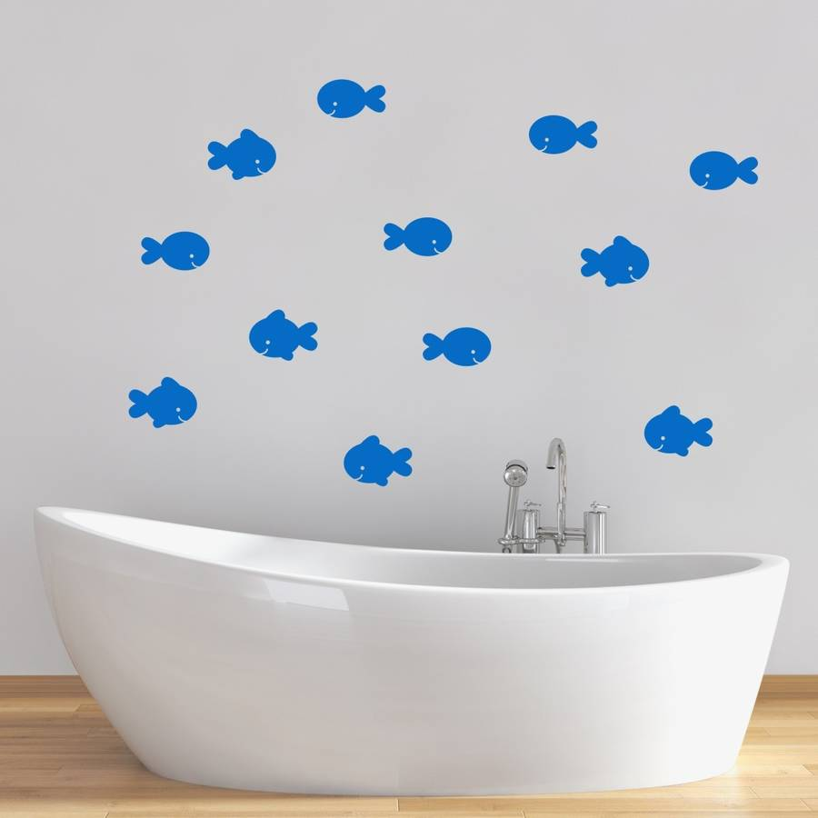 Fish Bathroom Wall Stickers. fish bathroom wall stickers by mirrorin   notonthehighstreet com