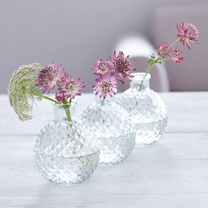 Faceted Glass Ball Vases