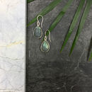 Ashiana Silver Labradorite Semi Precious Drop Earrings
