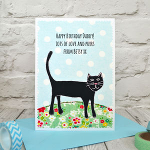 'Cat' Personalised Birthday Card