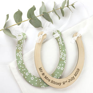 Wedding Horseshoe Personalised Keepsake - hanging decorations