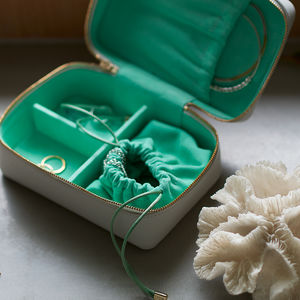 Personalised Luxury Soft Leather Jewellery Case - jewellery storage & trinket boxes