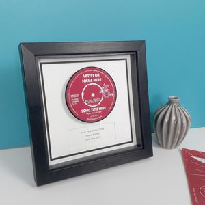 Personalised Individual Record Label Framed