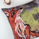Fox Large Velvet Cushion Cover