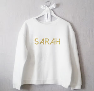 Personalised Glitter Name Jumper