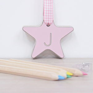 Personalised Wooden Hanging Heart Or Star Keepsake - ornaments