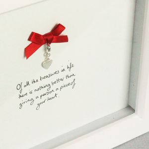 Silver Heart Keepsake Personalised Picture Frame Gift