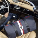 Upcycled Racing Car Weekend Bag
