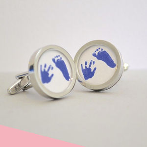 Hand And Footprints Cufflinks - gifts by budget